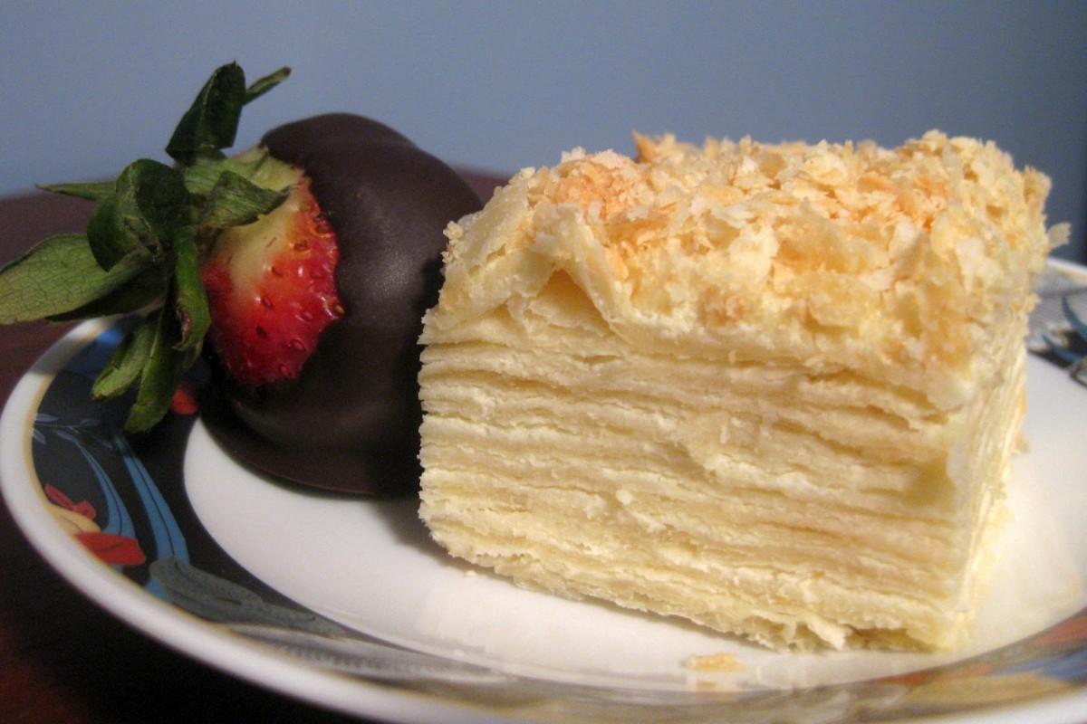 Торт творожный наполеон рецепт с фото в домашних условиях