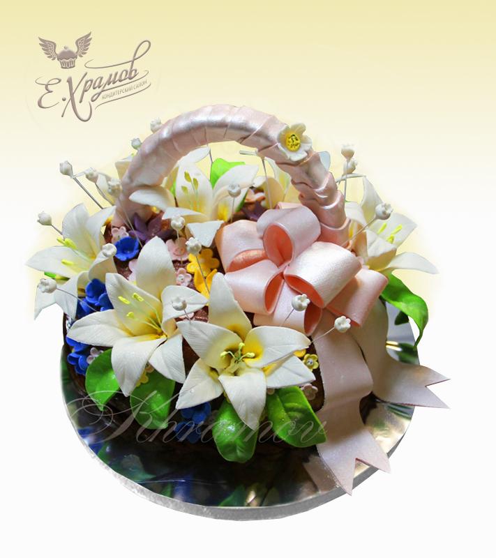 357Сахарные цветы для торта