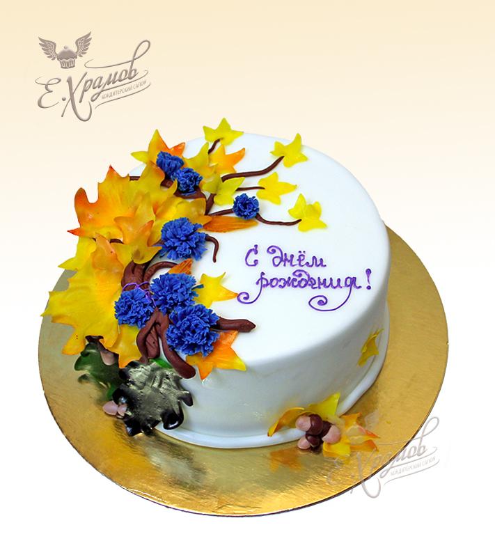 торт в осенней тематике фото