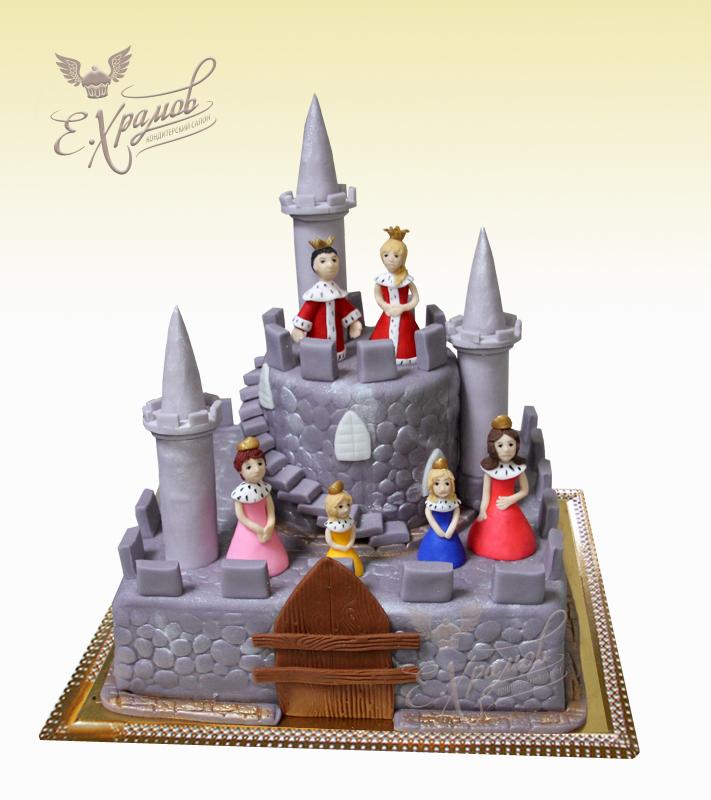 Торт Принцесса в замке | Торты в виде замка, крепости на заказ