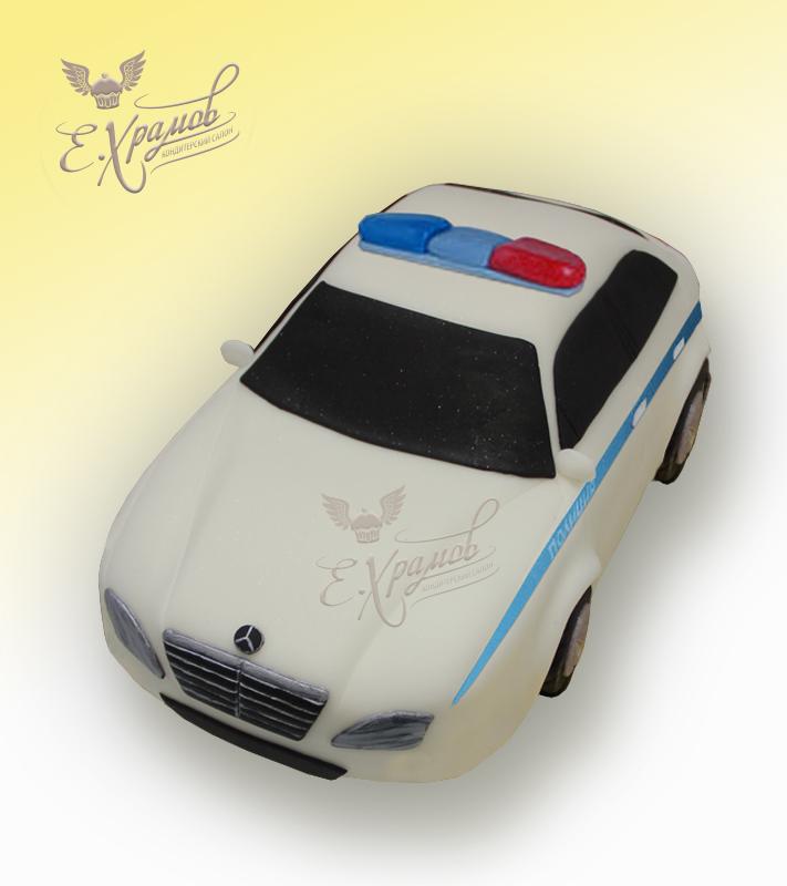 полицейская машина фото торт