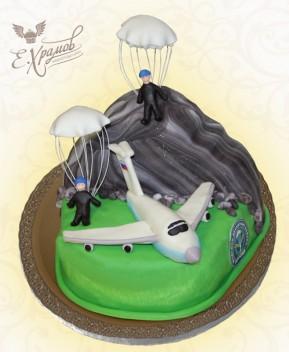 Кремовый торт с лебедями фото 10