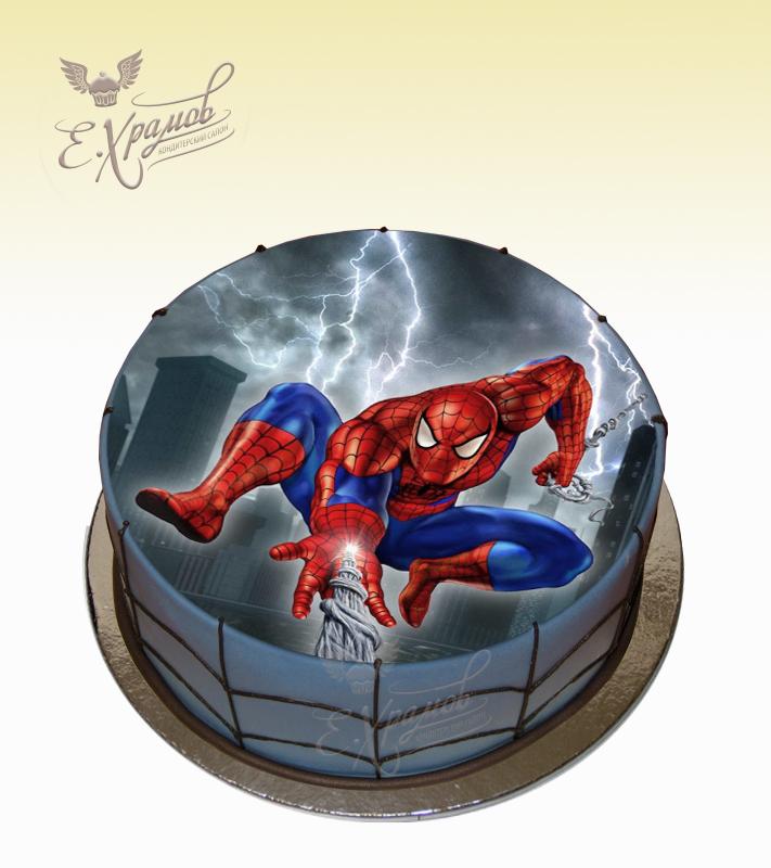 картинки на торт человек паук прямоугольные