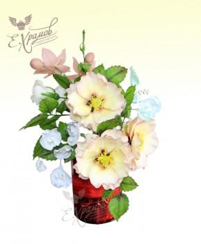 Цветы из пастилы купить красные цветы купить berlin