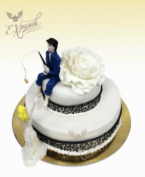 свадебные торт рыбака