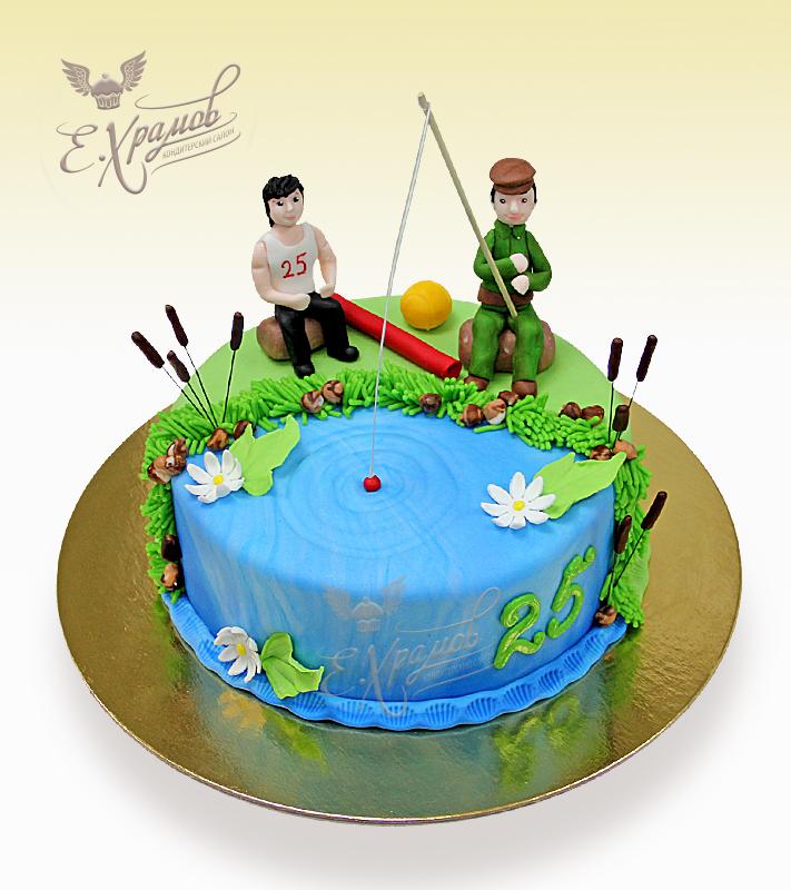 торт на 25 лет парню рыбаку